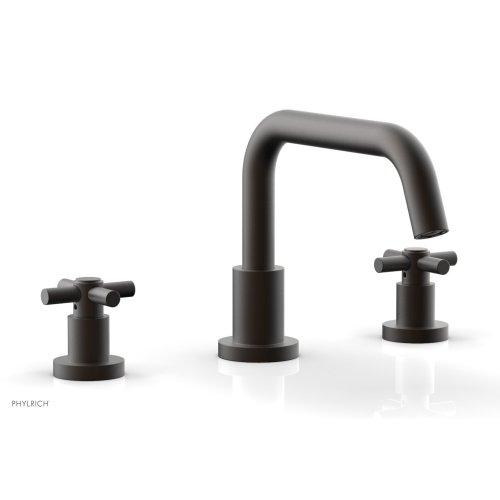BASIC Deck Tub Set - Tubular Cross Handles D1136D - Oil Rubbed Bronze