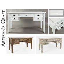 Artisan's Craft 5-drawer Desk - Weathered White