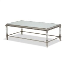 Rect Cocktail Table W/glossy White Glass Top (factory 65 - China)