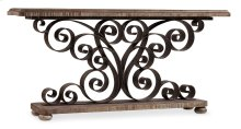 Living Room Metal Scroll Console