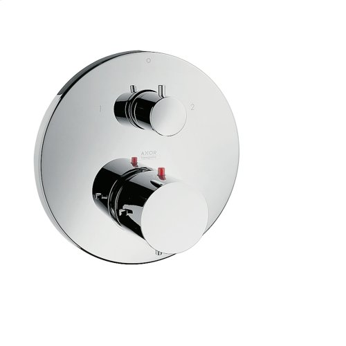Polished Bronze Thermostat for concealed installation with shut-off/ diverter valve