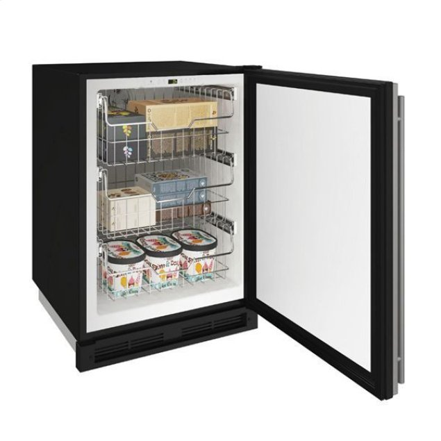 "U-Line 24"" Convertible Freezer With Stainless Solid Finish (115 V/60 Hz Volts /60 Hz Hz)"