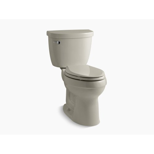 Sandbar Comfort Height Two-piece Elongated 1.28 Gpf Toilet With Aquapiston Flushing Technology, Left-hand Trip Lever and Insuliner Tank Liner, Seat Not Included