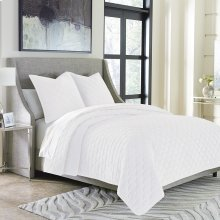 3pc Queen Duvet Set White