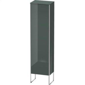 Tall Cabinet Floorstanding, Dolomiti Gray High Gloss Lacquer