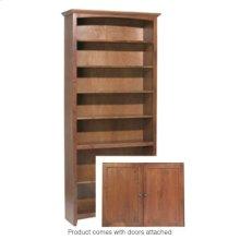 """GAC 84""""H x 36""""W McKenzie Alder Bookcase w/doors"""