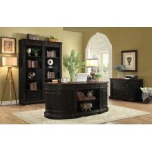 Rowan Traditional Black and Espresso Desk