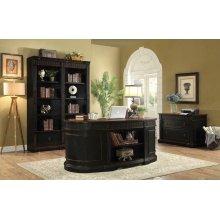 Rowan Traditional Black and Espresso Desk