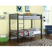 Meyers Traditional Grey Twin-over-twin Bunk Bed