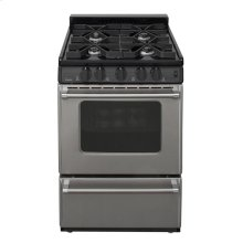 24 in. Freestanding Sealed Burner Gas Range in Stainless Steel