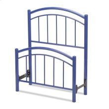 Rylan Kids Bed with Metal Duo Panels, Cadet Blue Finish, Twin