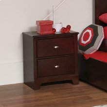 Ashton Transitional Cappuccino Nightstand
