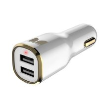Monster Mobile® iCarCharger MAX 2 - White and Gold
