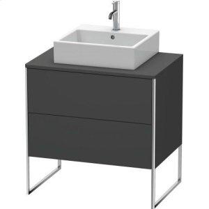 Vanity Unit For Console Floorstanding, Graphite Matt (decor)