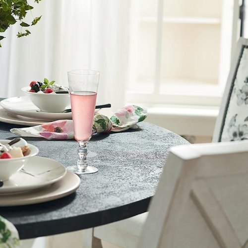 "Custom Dining 48"" Stone Table w/Round Base"