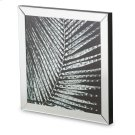 Mirror Framed Wall Decor W/crystal Accented Leaves Product Image