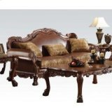 Chenille/pu Sofa W/3 Pillows Product Image