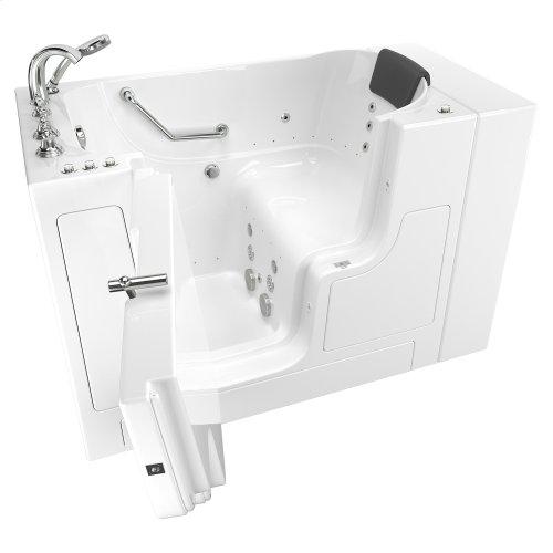 Gelcoat Premium Series 30x52 Walk-in Bathtub with Combination Massage and Outward Facing Door, Left Drain  American Standard - White