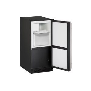 "U-Line1000 Series 15"" Crescent Ice Maker With Stainless Solid Finish and Field Reversible Door Swing (115 Volts / 60 Hz)"