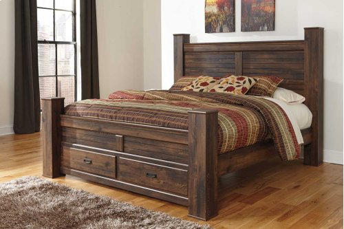 Queen Poster Bed w/ Storage Footboard