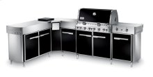 SUMMIT® GRILL CENTER WITH SOCIAL AREA (LEFT-HAND) NATURAL GAS - BLACK