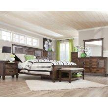 Franco Burnished Oak California Queen Four-piece Bedroom Set