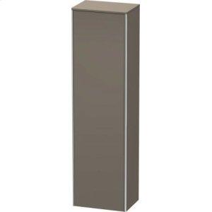 Tall Cabinet, Flannel Grey Satin Matt Lacquer