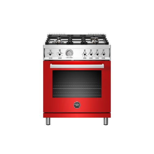 30 inch All Gas Range, 4 Brass Burner Rosso