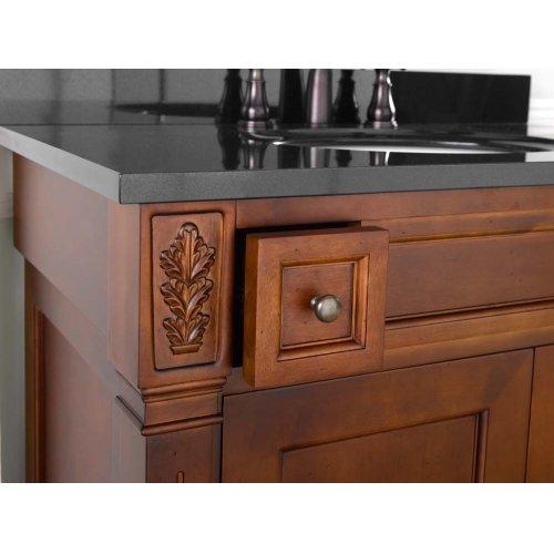 """Verona 36"""" Bathroom Vanity Cabinet Base in Colonial Cherry"""