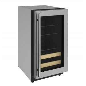 """U-Line2000 Series 18"""" Beverage Center With Stainless Frame (lock) Finish and Right-hand Hinged Door Swing (115 Volts / 60 Hz)"""