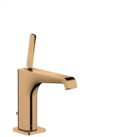 Polished Bronze Single lever basin mixer 130 with pop-up waste set