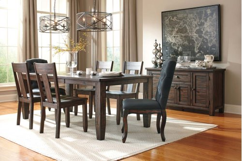 Trudell - Dark Brown 9 Piece Dining Room Set
