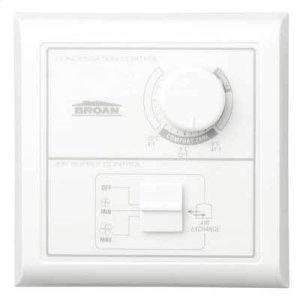 BroanCentral Control w/Dehumidistat, Off-low-high rocker switch. Low Voltage