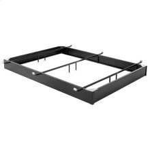 """Pedestal 650 Bed Base with 6-1/4"""" Black Steel Frame and Detachable Bolt-On Headboard Brackets, Queen"""
