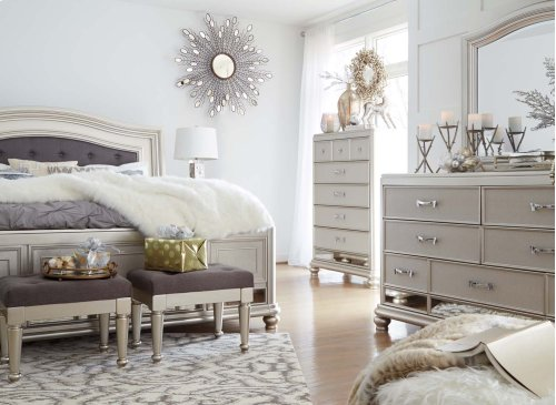 King UPH Panel Bed