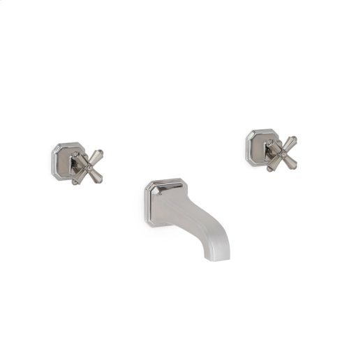 Gold Plate Harrison Cross Handle Wall Mount Tub Set
