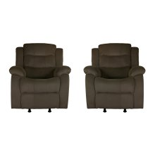 Candice Taupe Fabric Glider Recliner Chair