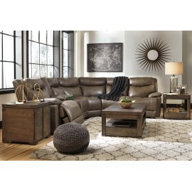 Zaiden 6-Pc Sectional LAF Zero Wall Power Recliner w/ Console, Armless Recliners, Wedge and RAF Power Recliner - Quarry Collection