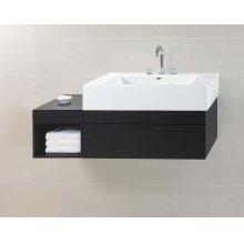 "Rebecca 36"" Wall Mount Bathroom Vanity Base Cabinet in Black"