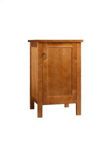 Bathroom Side Cabinet with Wood Door in Cinnamon