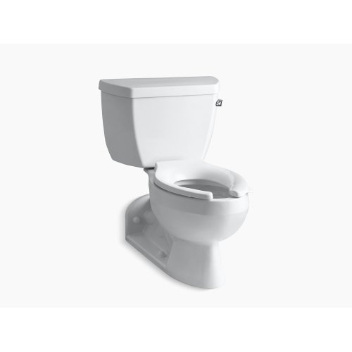 Almond Two-piece Elongated 1.6 Gpf Toilet With Pressure Lite Flushing Technology and Right-hand Trip Lever