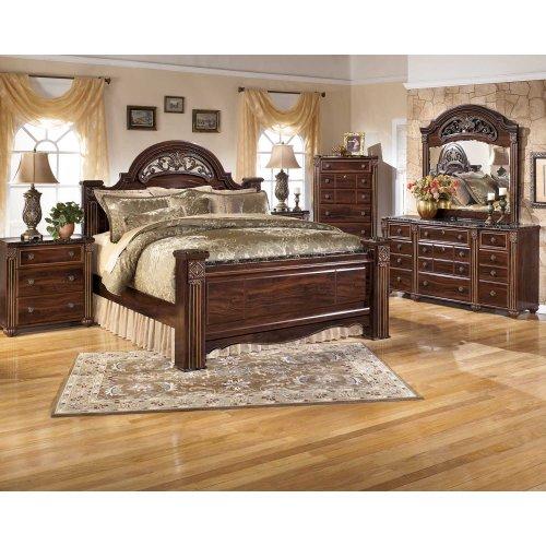 Gabriela - Dark Reddish Brown Queen Size 7 Piece Bedroom Set