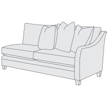 Sorenson Right Arm Loveseat in Mocha (751)
