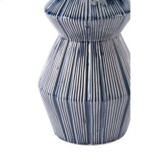 Quarto Vase Blue & White