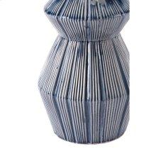 Quarto Vase Blue & White