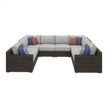 Alta Grande - Beige/Brown 5 Piece Patio Set