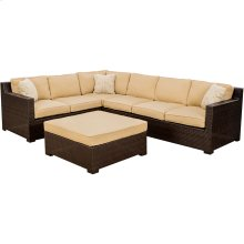 Metropolitan 5 Pc. Lounging Set - Two Loveseats, One Chair, Ottoman, and Corner Chair