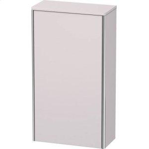Semi-tall Cabinet, White Lilac Satin Matt Lacquer