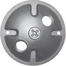 2-Light Mounting Plate - Light Gray Finish