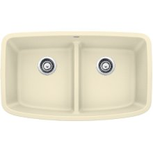 Blanco Valea® Equal Double Bowl With Low-divide - Biscuit